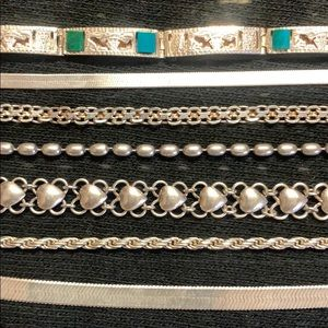 Stackable Silver Bracelets